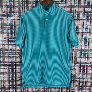 Peter Millar Summer Comfort Striped Golf Shirt M